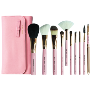 Makeup Brush Set - French Pink (10pcs)