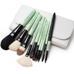 Makeup Brush Set - Matcha Green (10 pcs)