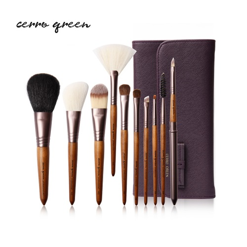 Makeup Brush Set - Kobicha Brown (10 pcs)