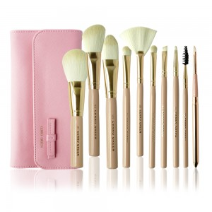 Makeup Brush Set - Barbie Vanilla (10 Pcs)