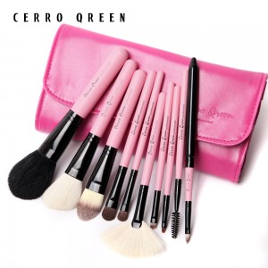 Makeup Brush Set - Fuchsia Pink (10 pcs)